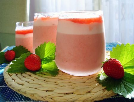 Mousse light de fresas